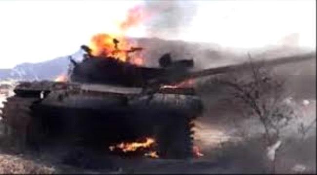 القوات الجنوبية تدمر دبابة حوثية وتكسر عدد من الهجمات شرق الحشا شمال الضالع